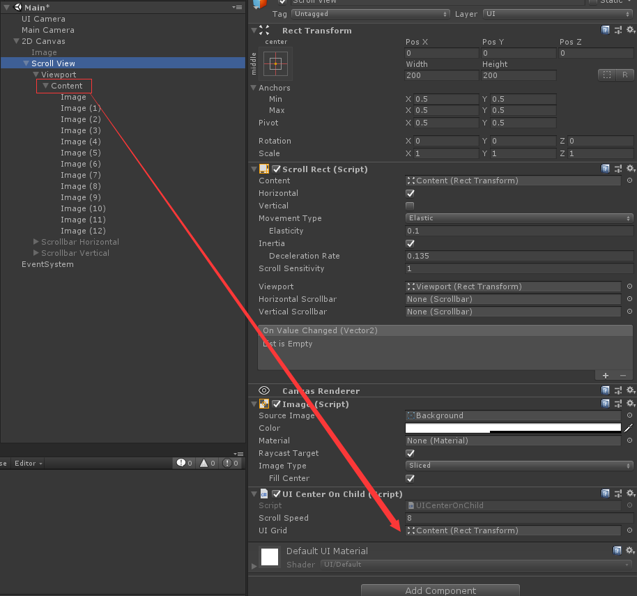 Unity3D UGUI:Scroll View滑动居中 - 第1张  | 大腿Plus